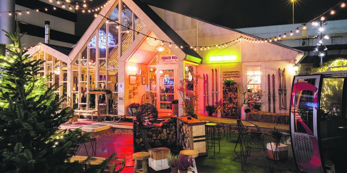 Das Pop-up- Fondue-Chalet