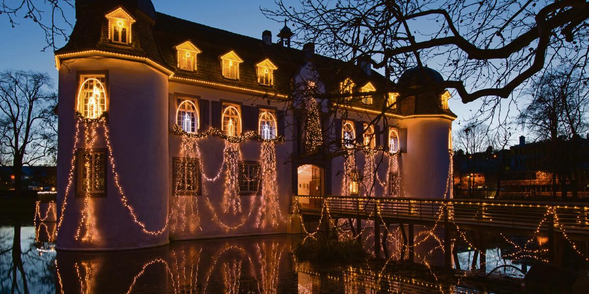 Merlin und Frau Musica im Wasserschloss